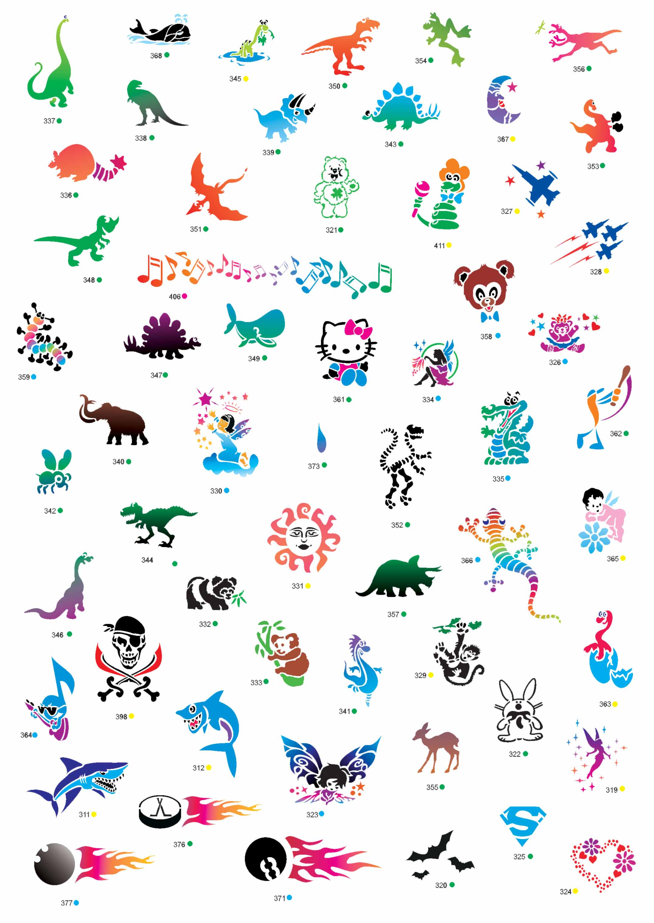 Kiddo world kids birthday party entertainment temporary for Temporary tattoos for kids